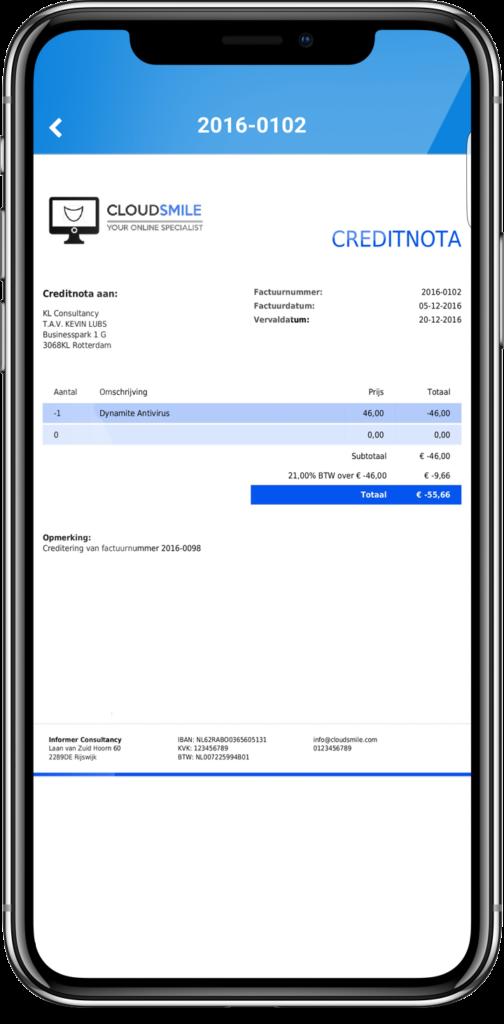 online boekhouden met smartphone